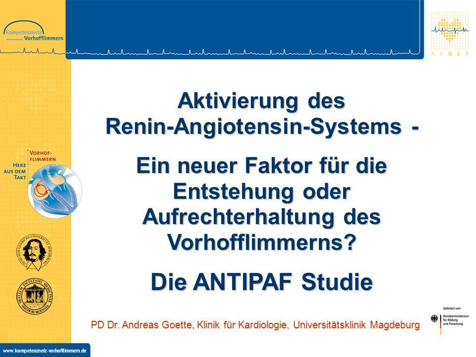 Aktivierung des Renin-Angiotensin-Systems -