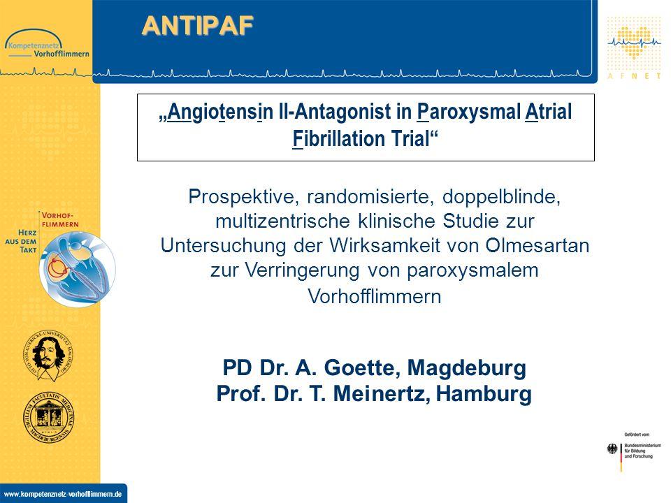 """Angiotensin II-Antagonist in Paroxysmal Atrial Fibrillation Trial"