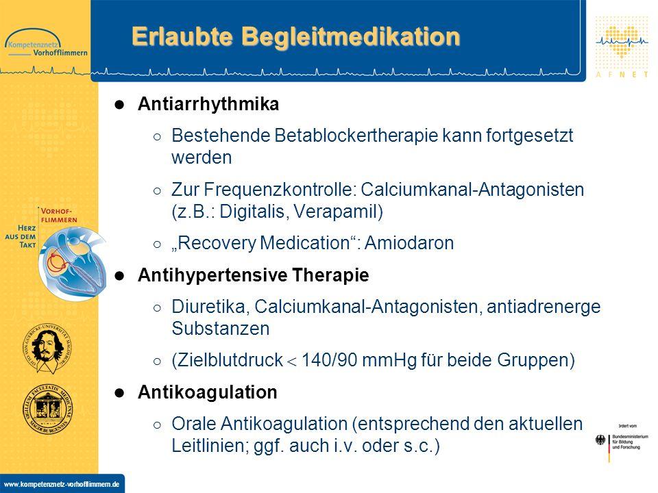 Erlaubte Begleitmedikation