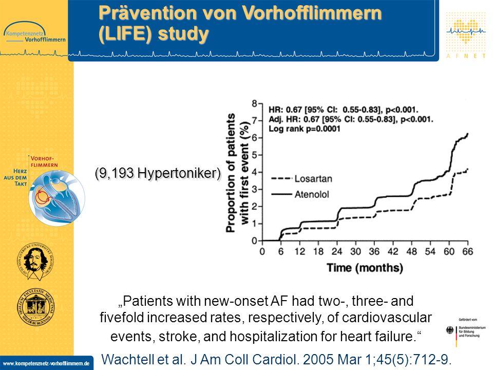 Prävention von Vorhofflimmern (LIFE) study