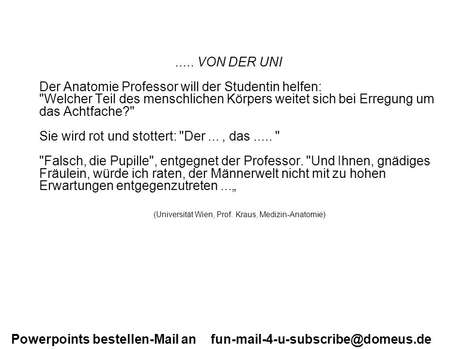 (Universität Wien, Prof. Kraus, Medizin-Anatomie)