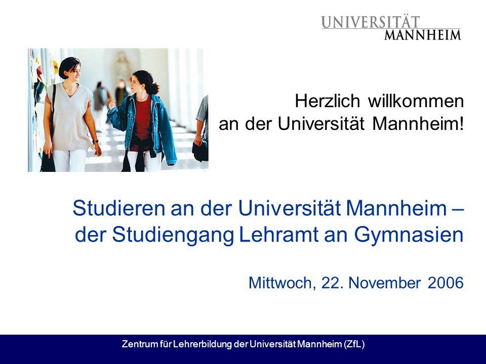 Herzlich willkommen an der Universität Mannheim!