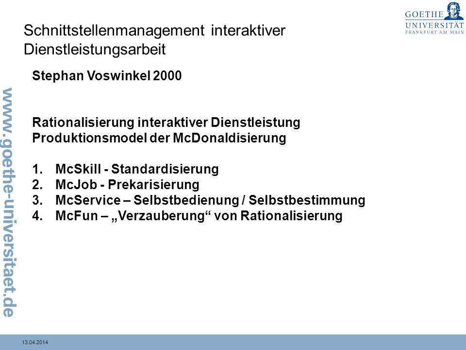 Schnittstellenmanagement interaktiver Dienstleistungsarbeit