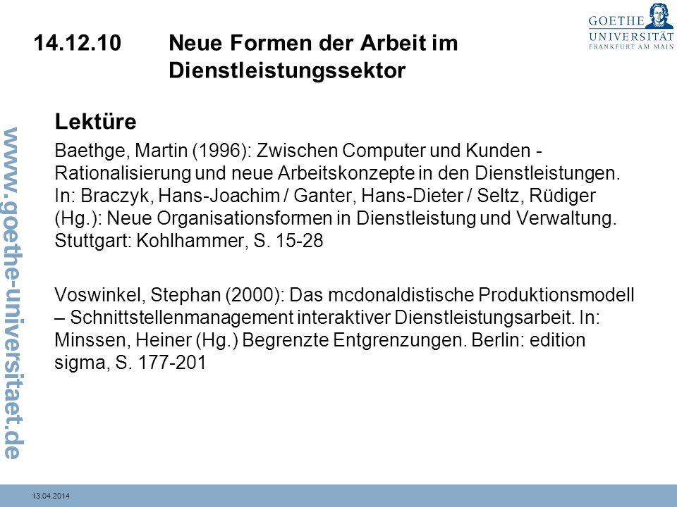 14.12.10 Neue Formen der Arbeit im Dienstleistungssektor