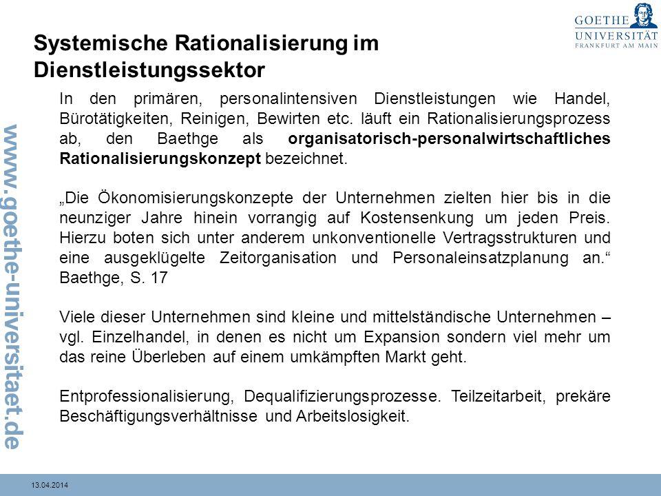Systemische Rationalisierung im Dienstleistungssektor