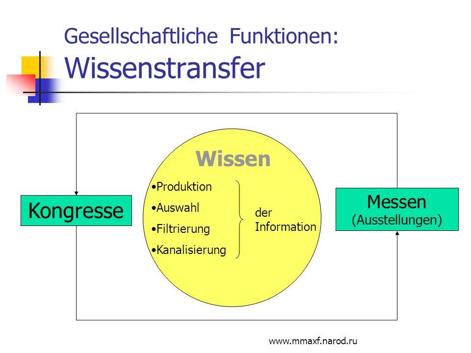 Gesellschaftliche Funktionen: Wissenstransfer