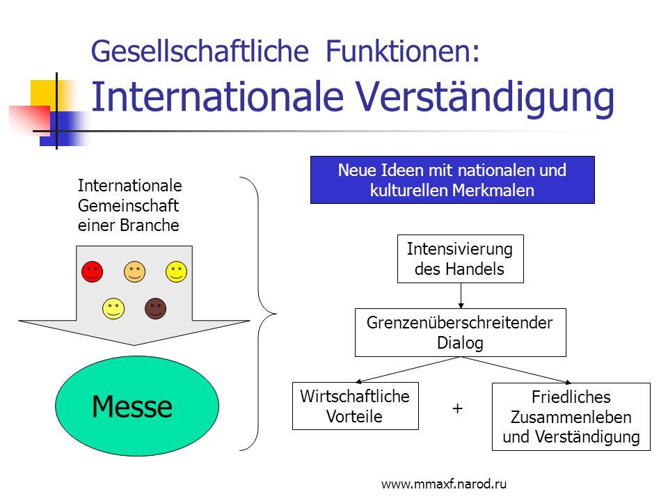 Gesellschaftliche Funktionen: Internationale Verständigung