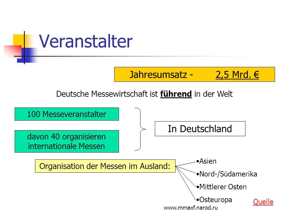 Veranstalter Jahresumsatz - 2,5 Mrd. € In Deutschland