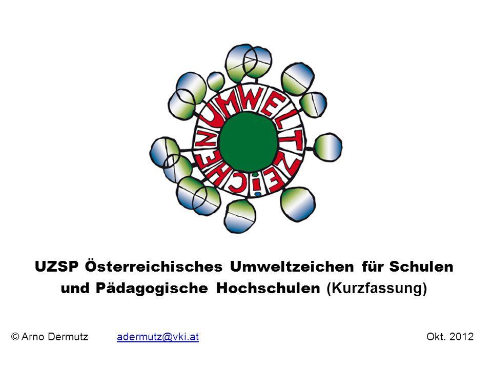 UZSP Österreichisches Umweltzeichen für Schulen und Pädagogische Hochschulen (Kurzfassung)