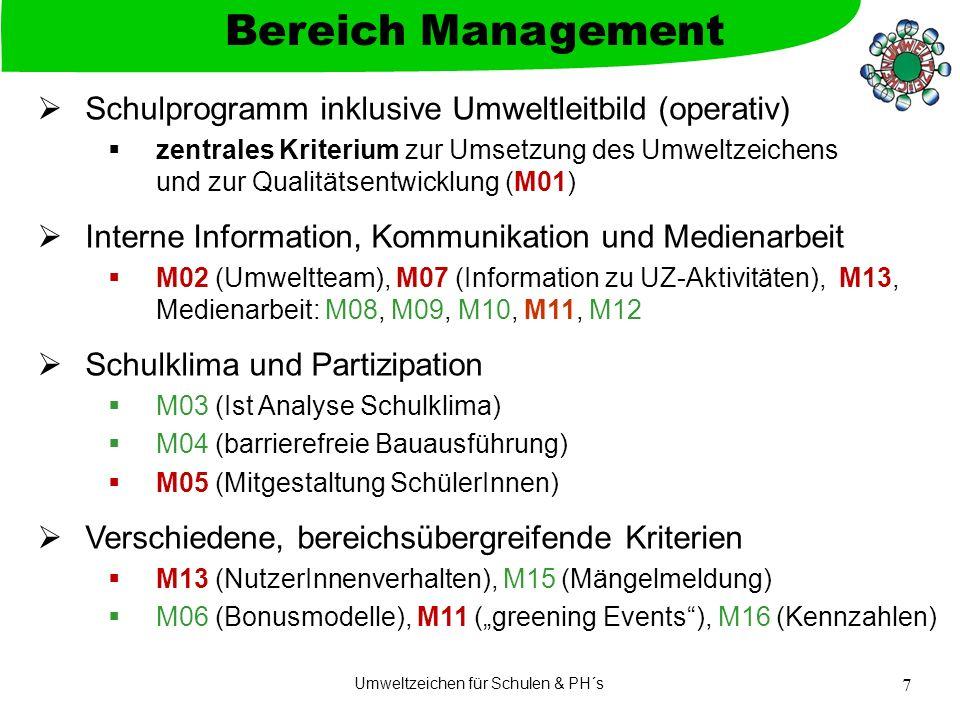 Umweltzeichen für Schulen & PH´s