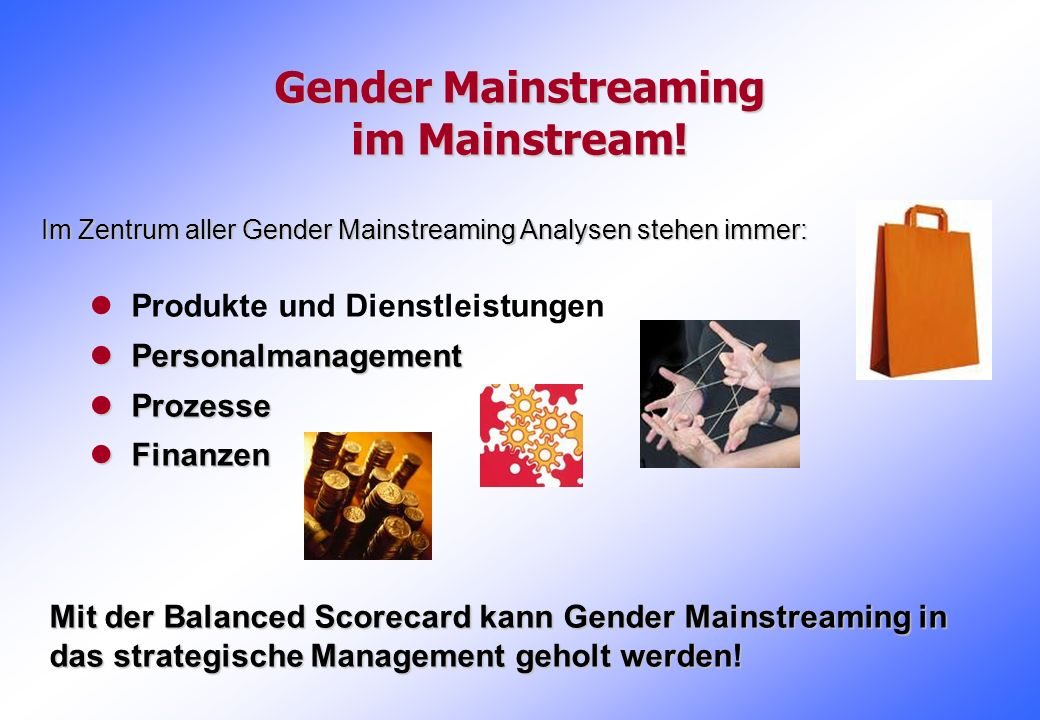 Gender Mainstreaming im Mainstream!
