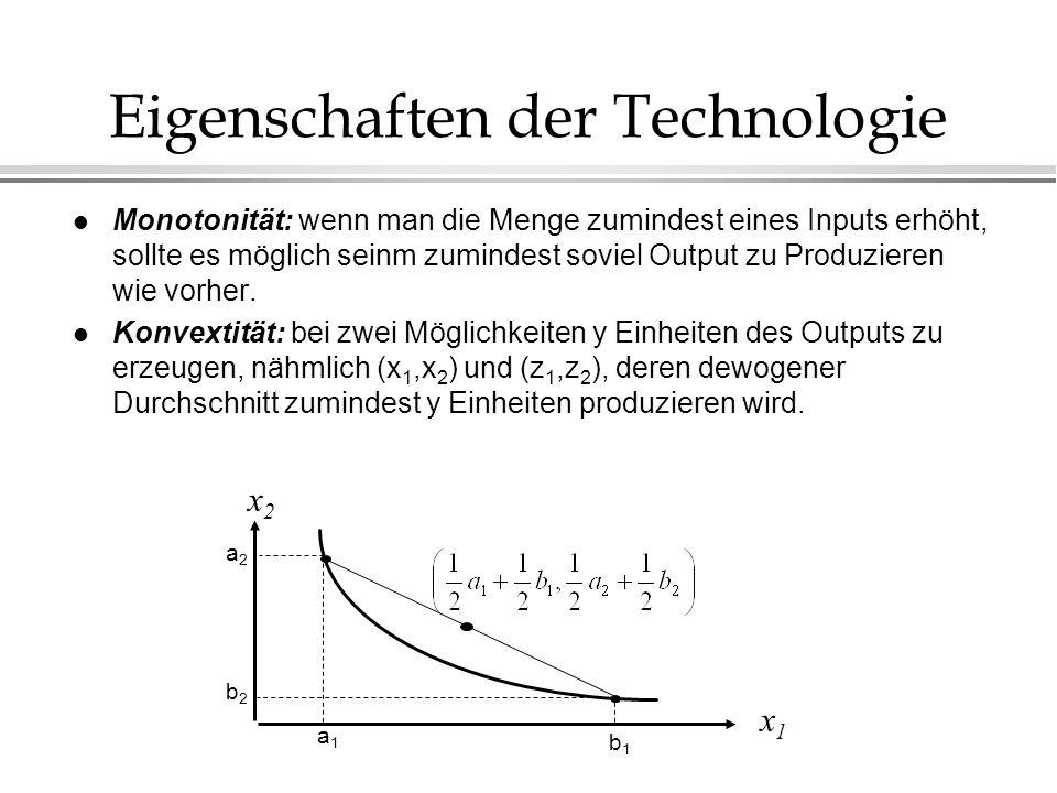 Eigenschaften der Technologie