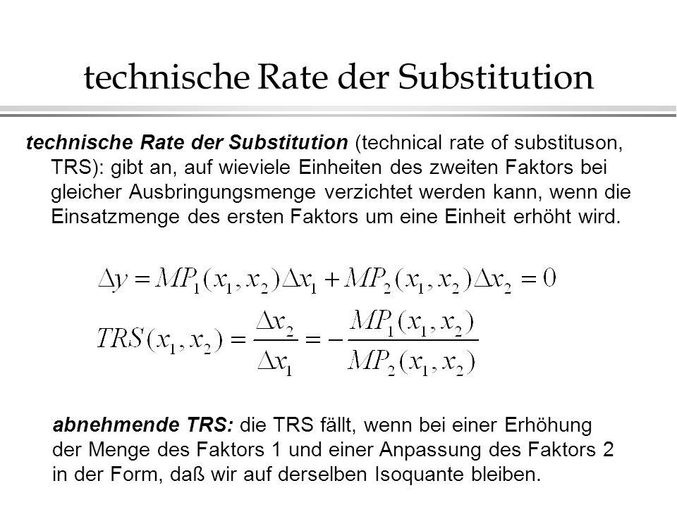 technische Rate der Substitution
