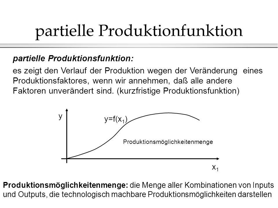 partielle Produktionfunktion