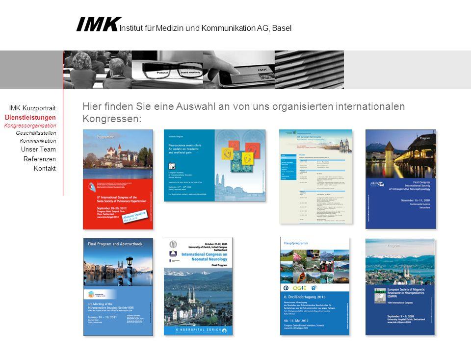 Hier finden Sie eine Auswahl an von uns organisierten internationalen Kongressen: