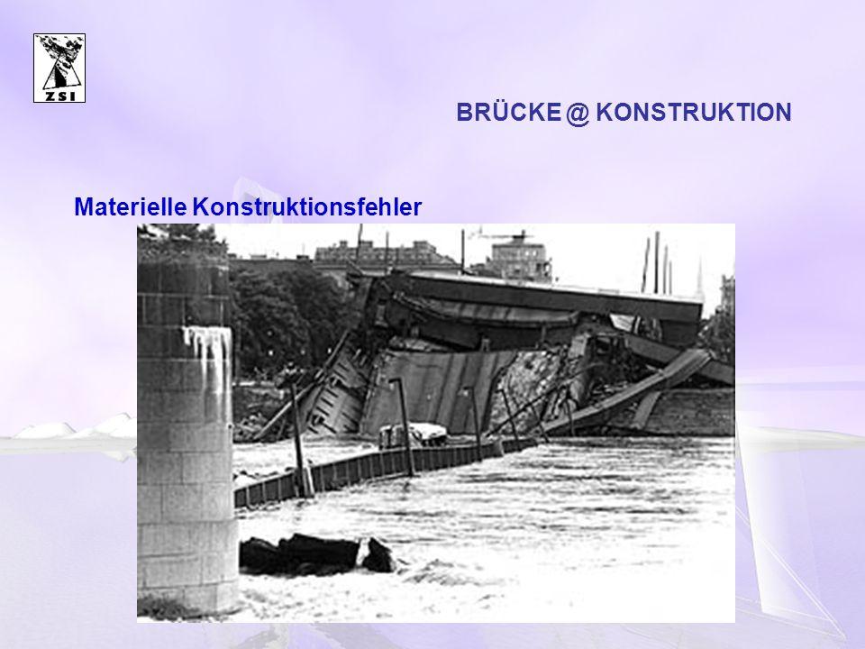 BRÜCKE @ KONSTRUKTION Materielle Konstruktionsfehler