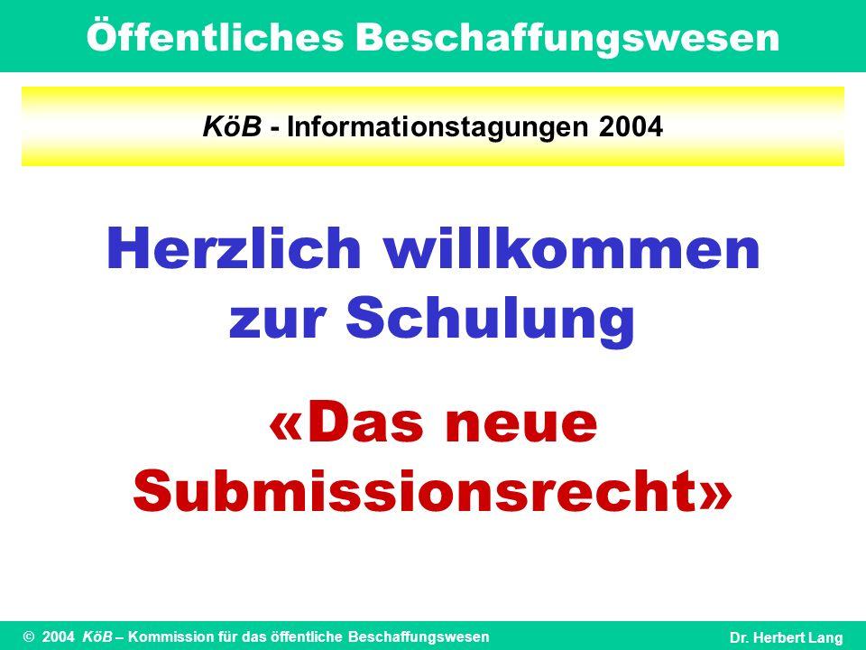 KöB - Informationstagungen 2004