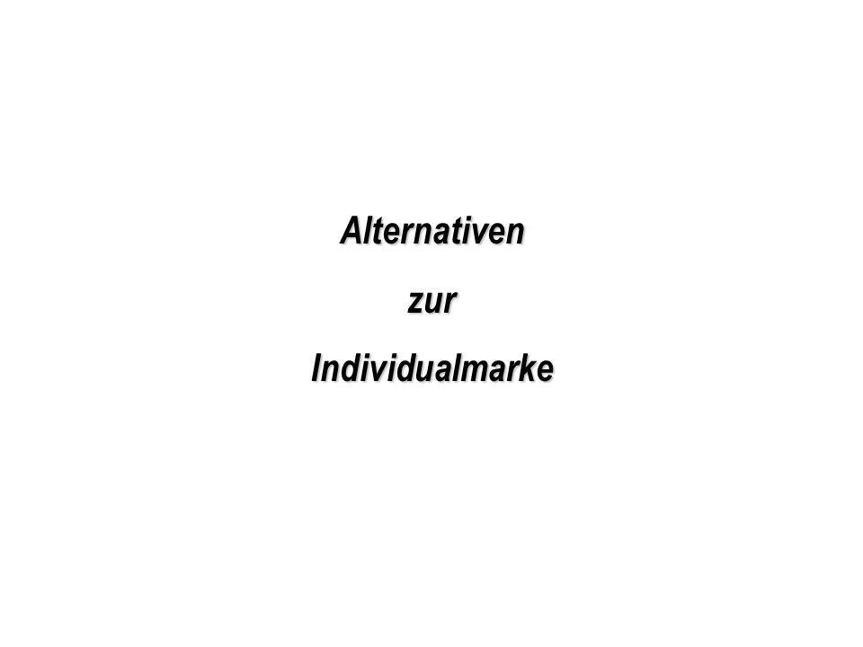 Alternativen zur Individualmarke