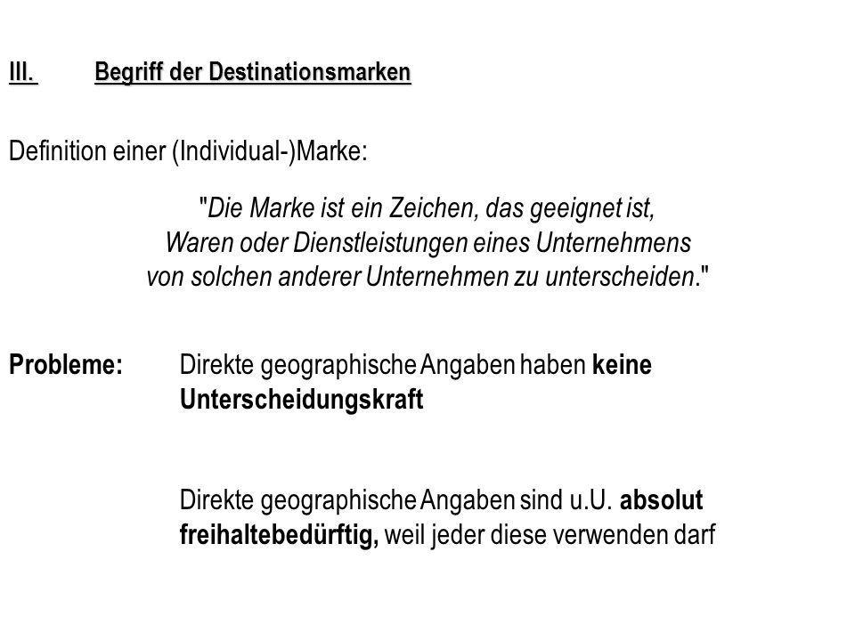 Definition einer (Individual-)Marke: