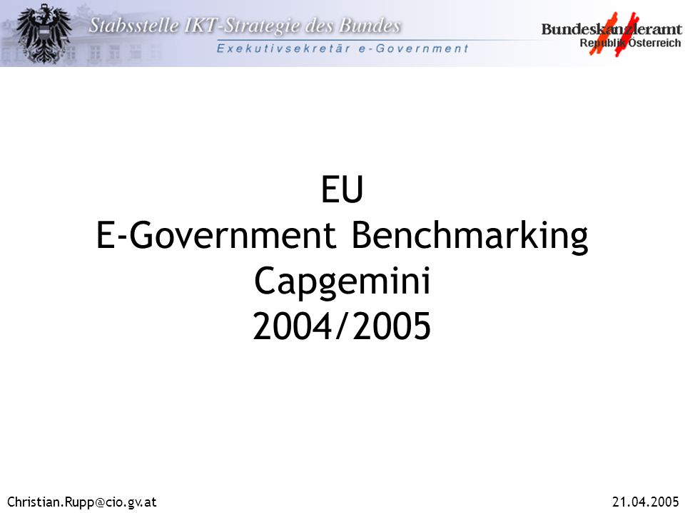 EU E-Government Benchmarking Capgemini 2004/2005