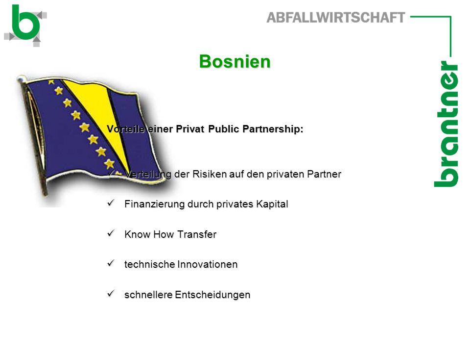 Bosnien Vorteile einer Privat Public Partnership: