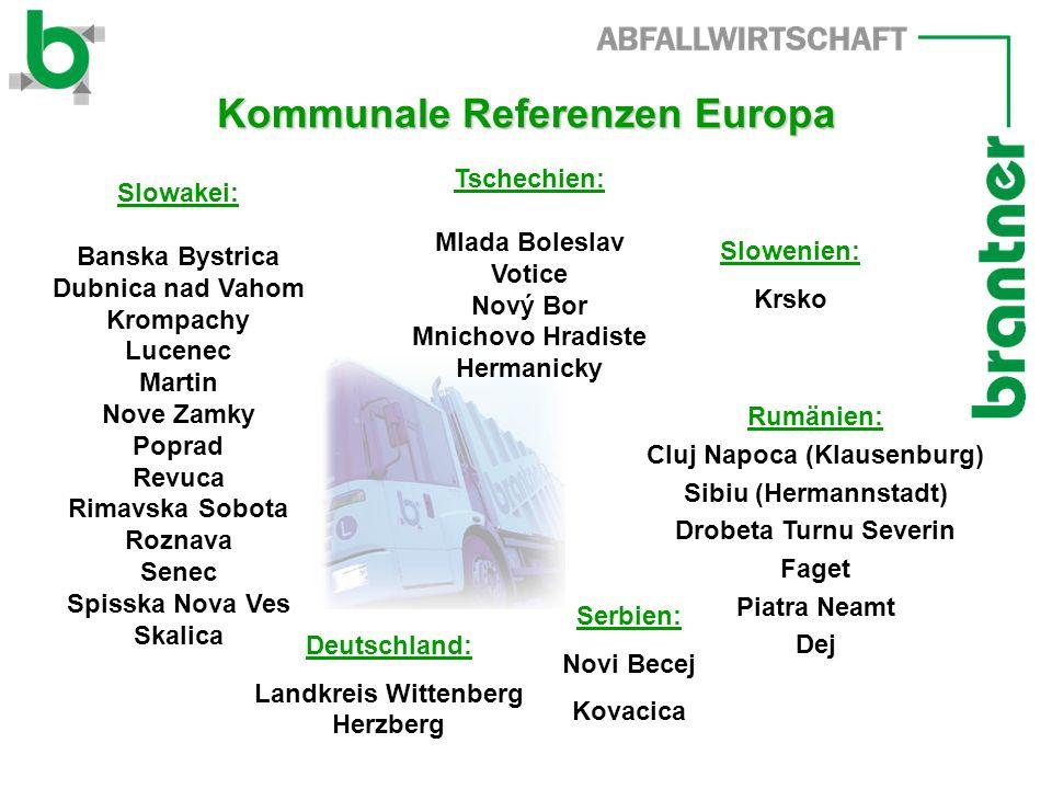 Kommunale Referenzen Europa