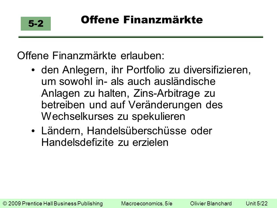 Offene Finanzmärkte erlauben: