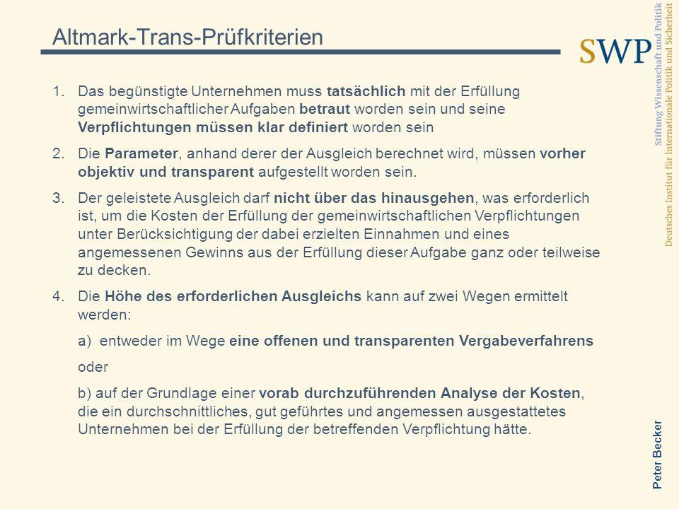 Altmark-Trans-Prüfkriterien