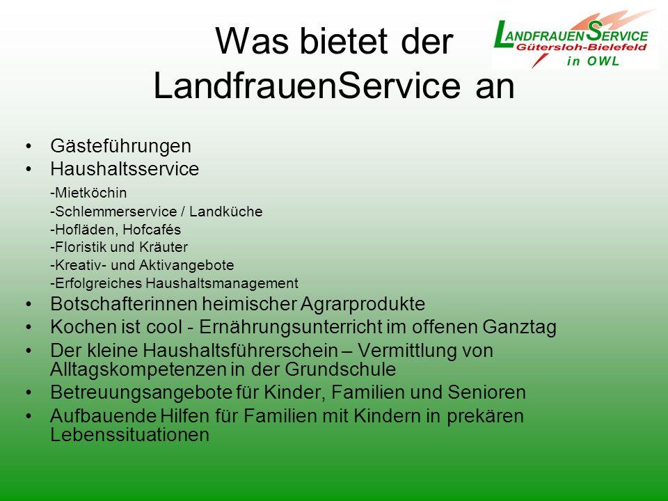 Was bietet der LandfrauenService an