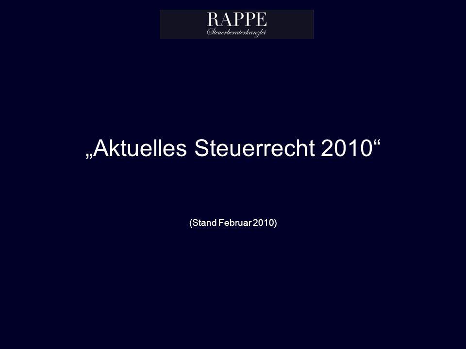 """""""Aktuelles Steuerrecht 2010 (Stand Februar 2010)"""