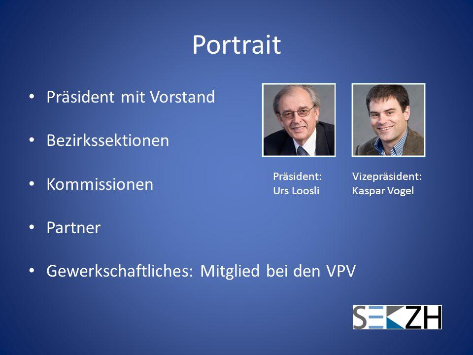 Portrait Präsident mit Vorstand Bezirkssektionen Kommissionen Partner
