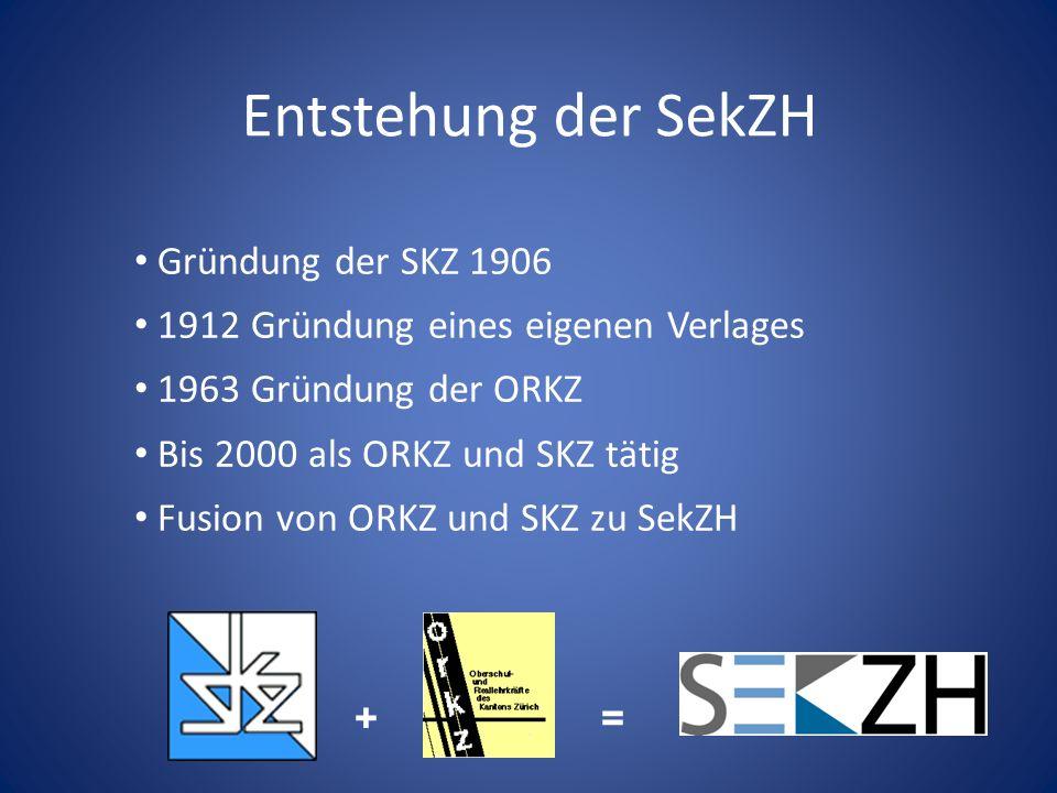 Entstehung der SekZH Gründung der SKZ 1906