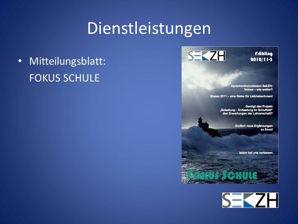 Dienstleistungen Mitteilungsblatt: FOKUS SCHULE