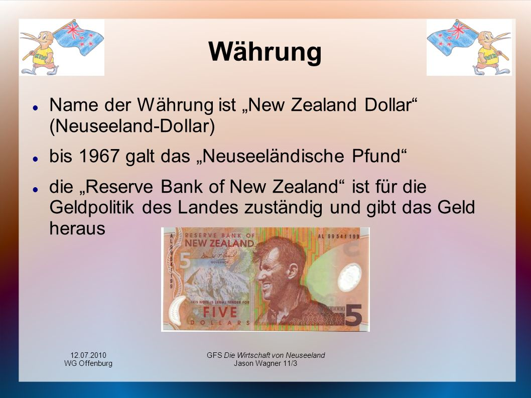 GFS Die Wirtschaft von Neuseeland