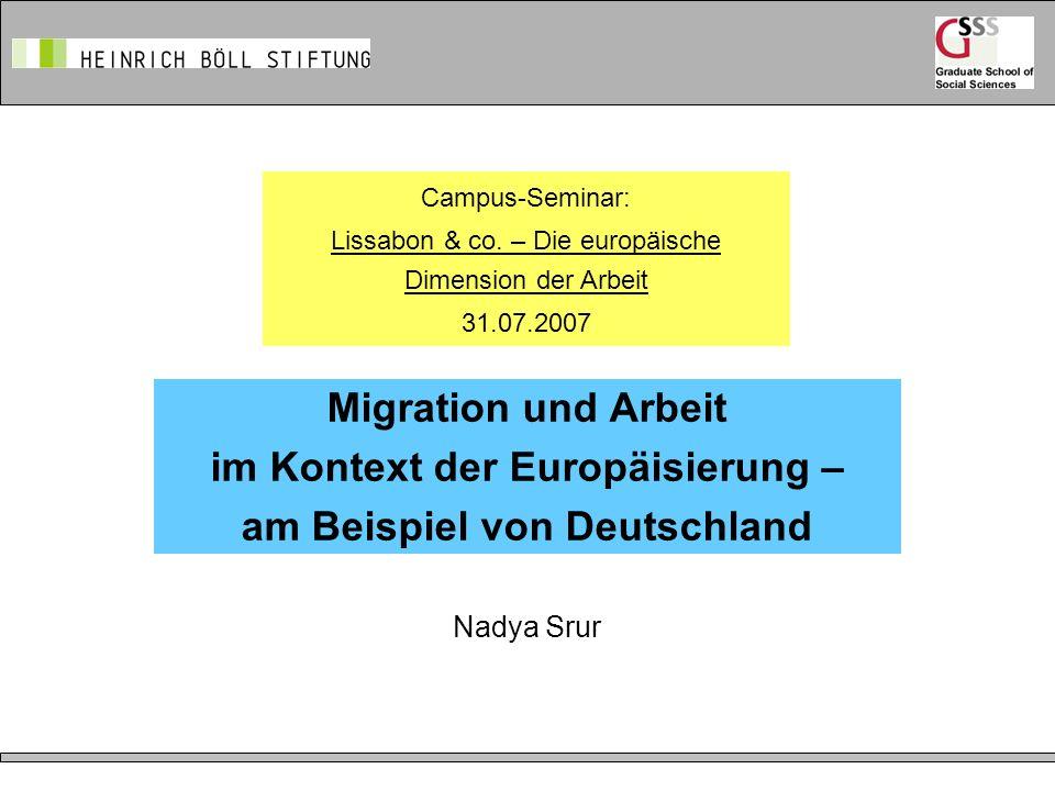 Lissabon & co. – Die europäische Dimension der Arbeit