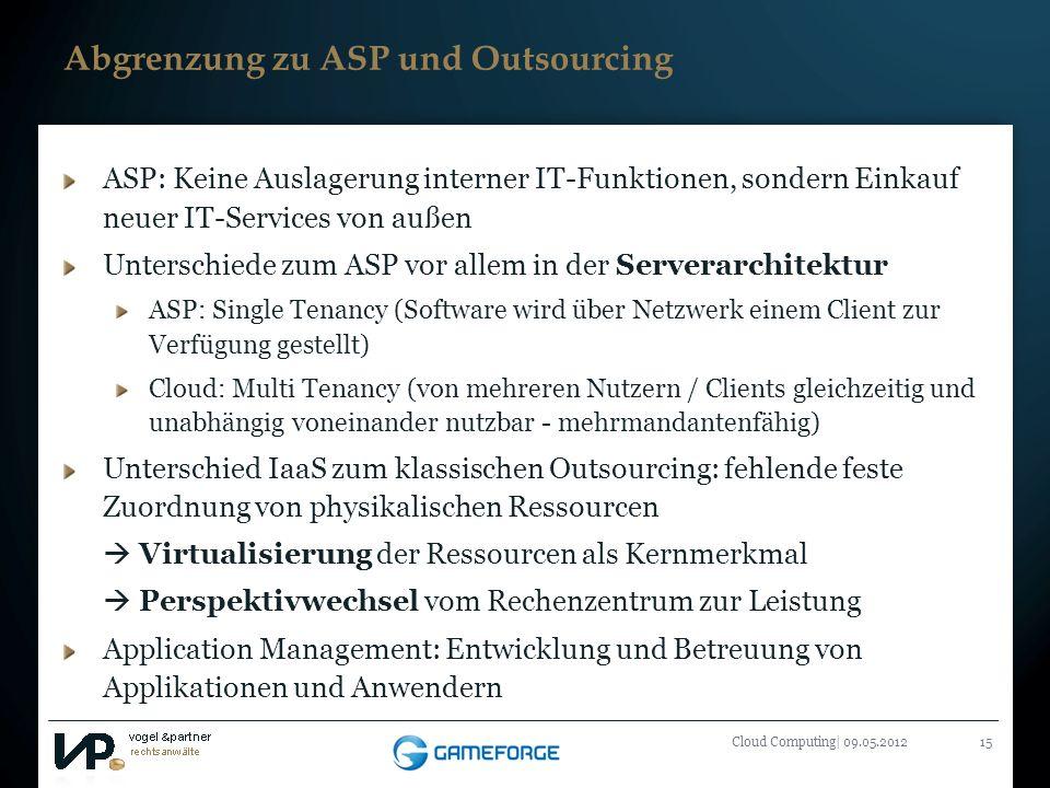 Abgrenzung zu ASP und Outsourcing