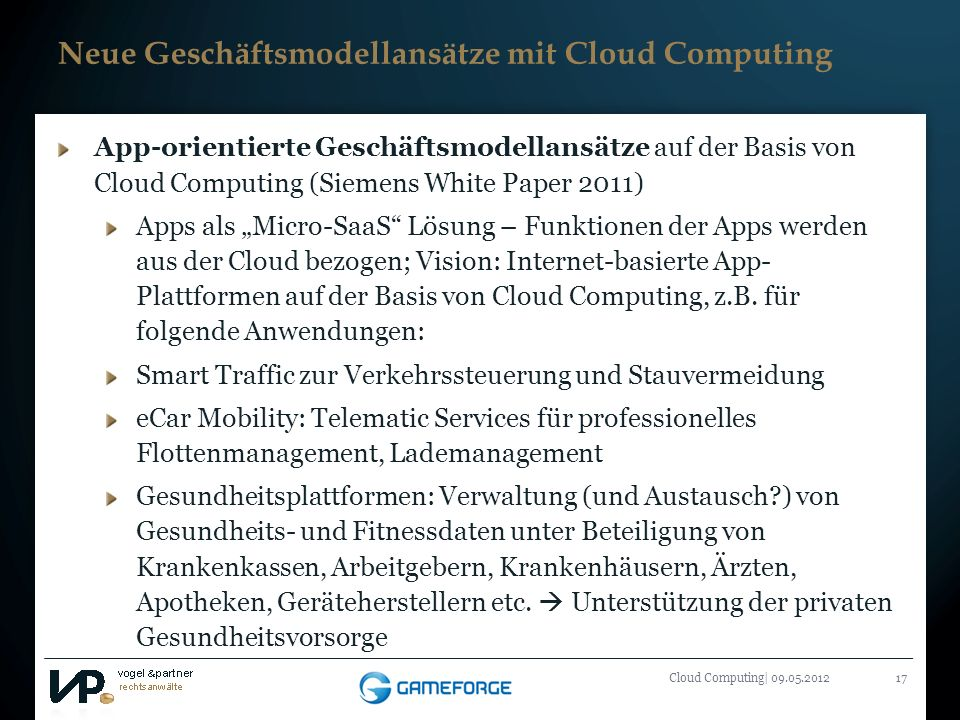 Neue Geschäftsmodellansätze mit Cloud Computing