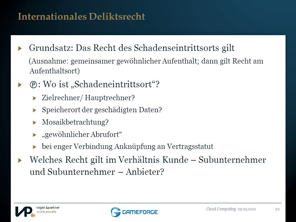 Internationales Deliktsrecht