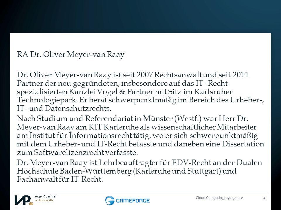 RA Dr. Oliver Meyer-van Raay