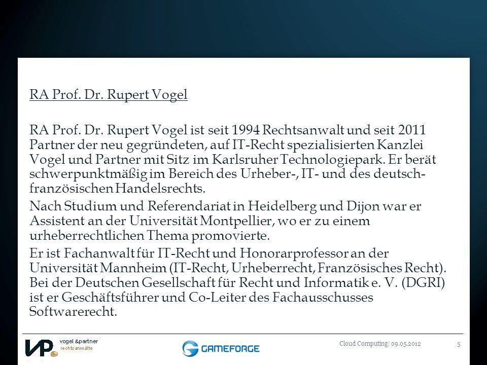RA Prof. Dr. Rupert Vogel