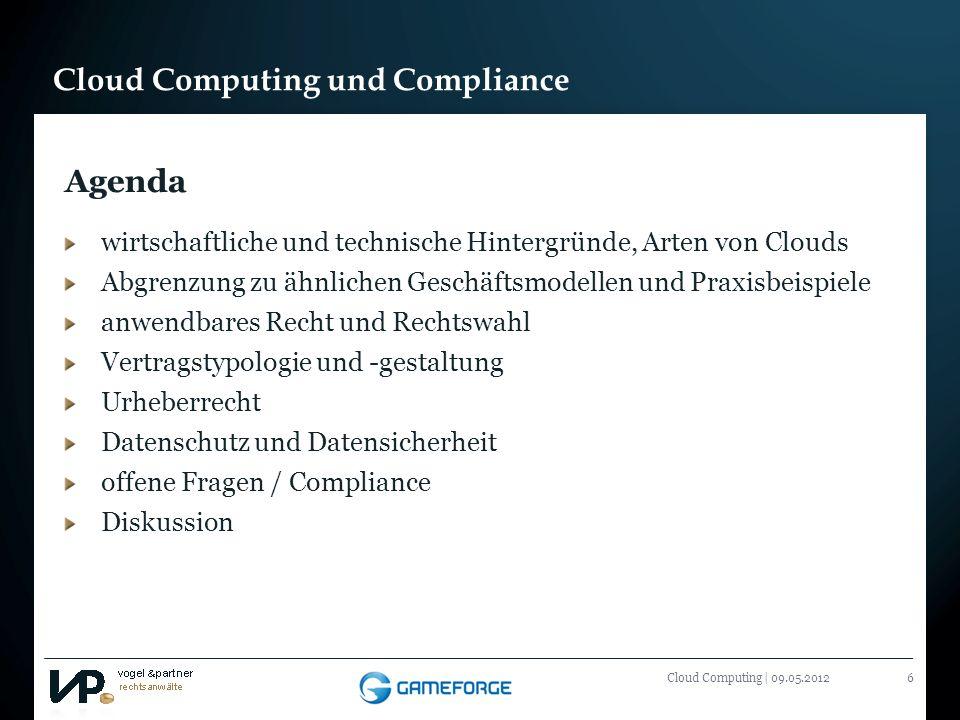 Agenda wirtschaftliche und technische Hintergründe, Arten von Clouds