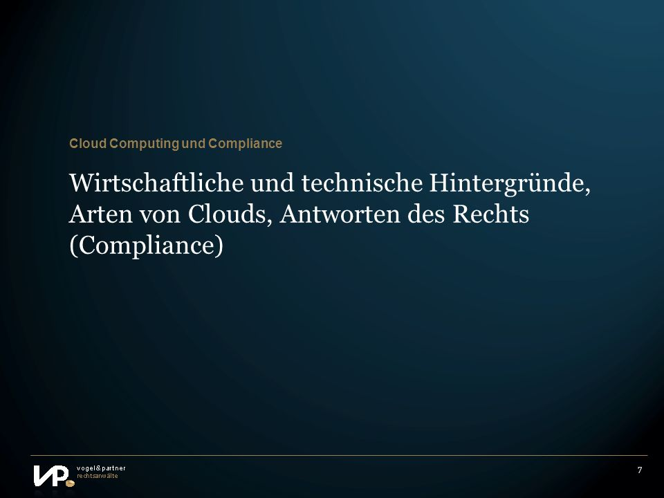 Cloud Computing und Compliance