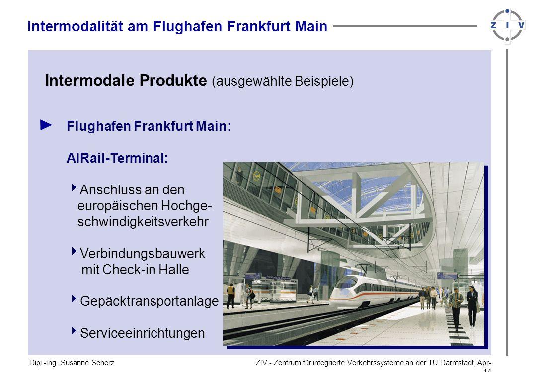 Intermodale Produkte (ausgewählte Beispiele)