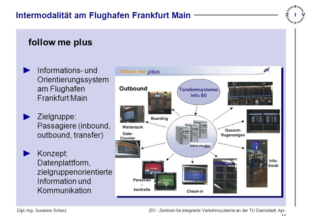 follow me plus Intermodalität am Flughafen Frankfurt Main
