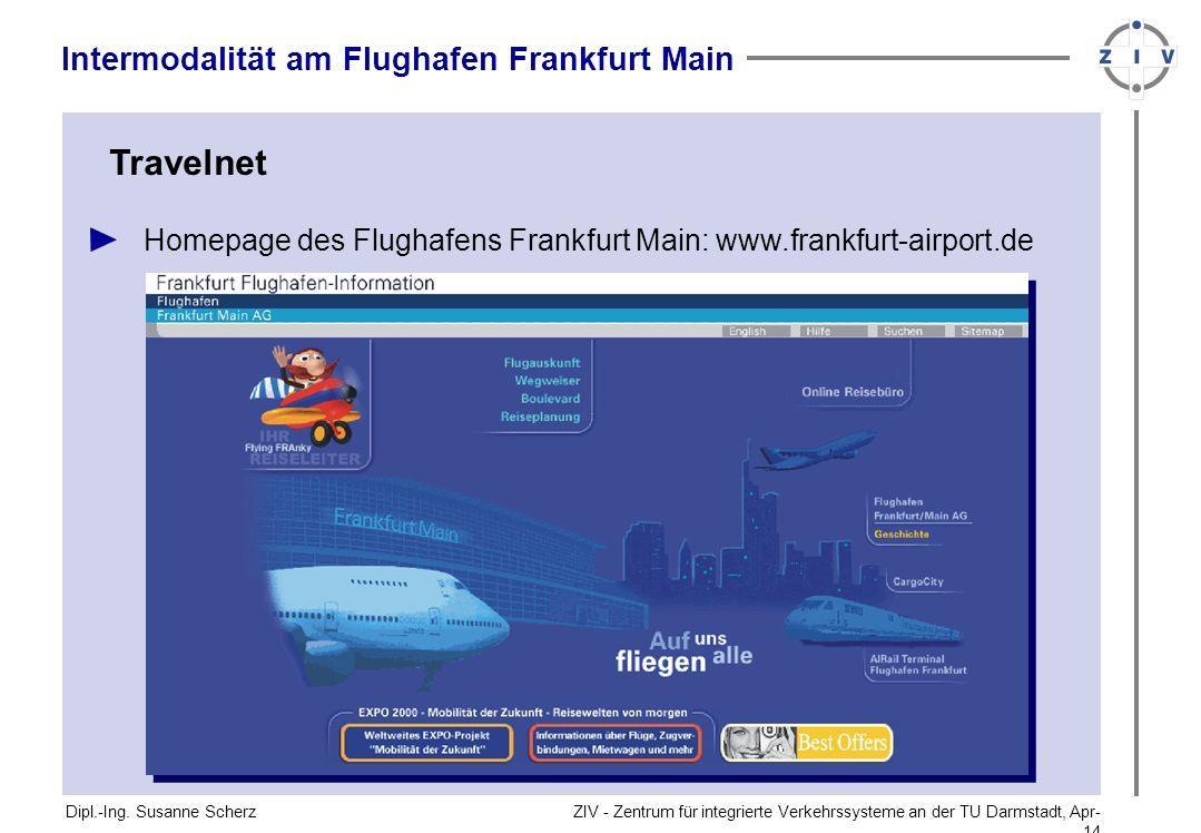 Travelnet Intermodalität am Flughafen Frankfurt Main