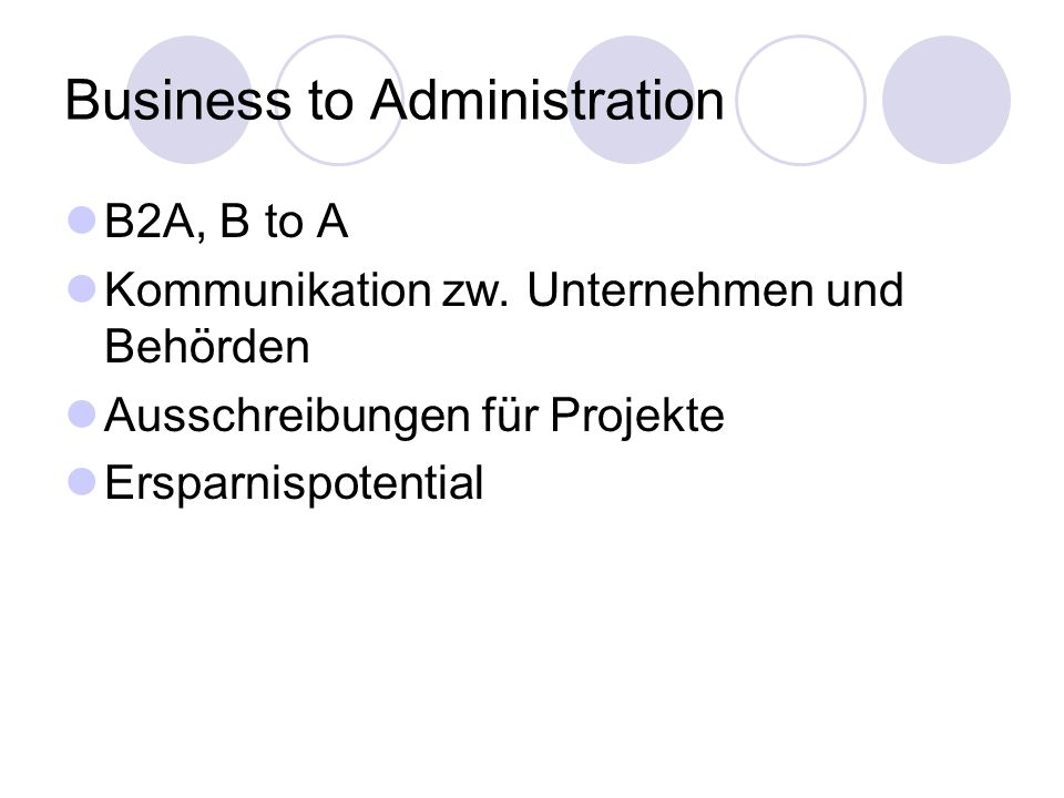 Business to Administration