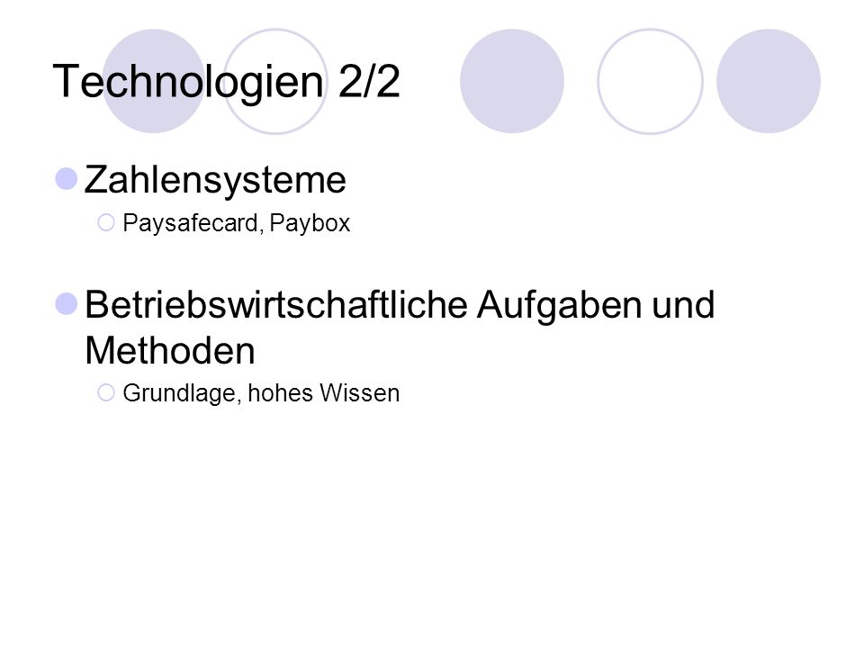 Technologien 2/2 Zahlensysteme