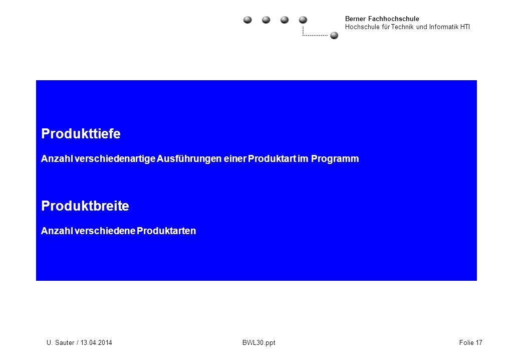 Produkttiefe Anzahl verschiedenartige Ausführungen einer Produktart im Programm Produktbreite Anzahl verschiedene Produktarten