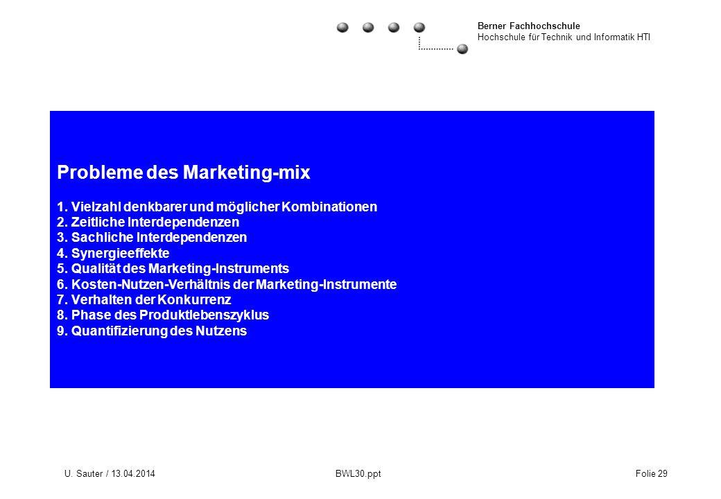 Probleme des Marketing-mix 1