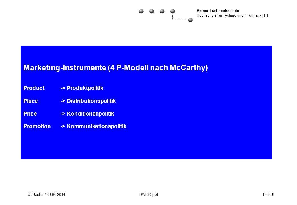 Marketing-Instrumente (4 P-Modell nach McCarthy) Product